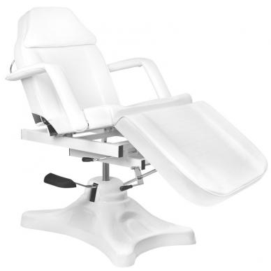 Kosmetologinis krėslas HYDRAULIC COSMETIC SALON WHITE