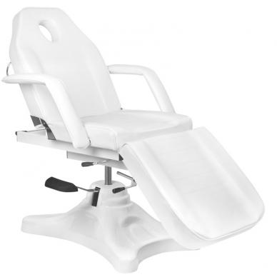 Kosmetologinis krėslas HYDRAULIC COSMETIC SALON WHITE 2
