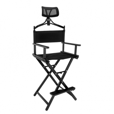 Makiažo kėdė MAKE-UP GLAMOR BLACK HEADREST