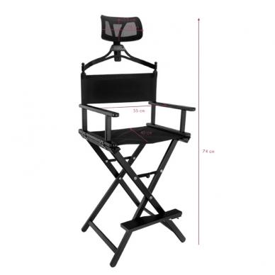 Makiažo kėdė MAKE-UP GLAMOR BLACK HEADREST 3