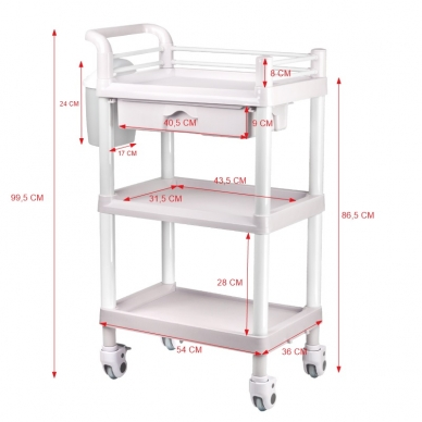 Kosmetologinis vežimėlis PLASTIC 004 3