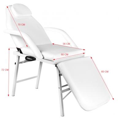 Kosmetologinis krėslas FOLDING CHAIR WHITE  6