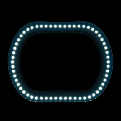Kosmetologinė LED lempa su lupa 10W (pastatoma / tvirtinama) 10