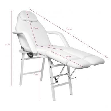 Kosmetologinis krėslas PEDI WHITE 8
