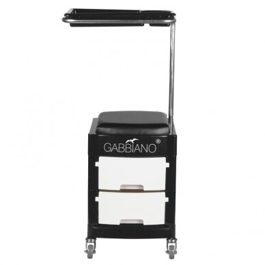 Pedikīra krēsls HELPER PEDICURE STOOL BLACK/WHITE (1) 2