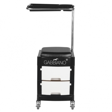 Pedikīra krēsls HELPER PEDICURE STOOL BLACK/WHITE 2