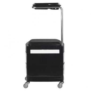 Pedikiūro vežimėlis - kėdutė HELPER PEDICURE STOOL BLACK/WHITE 5