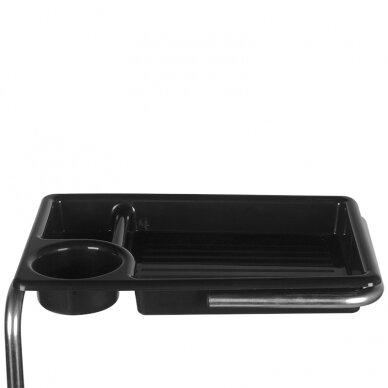 Pedikiūro vežimėlis - kėdutė HELPER PEDICURE STOOL BLACK/WHITE (1) 6