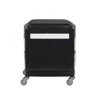 Pedikiūro vežimėlis - kėdutė HELPER PEDICURE STOOL 2 BLACK/WHITE 2