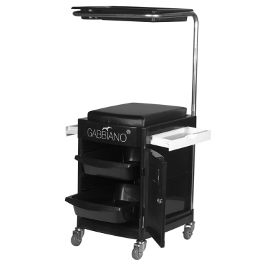 Pedikiūro vežimėlis - kėdutė HELPER PEDICURE STOOL BLACK 2