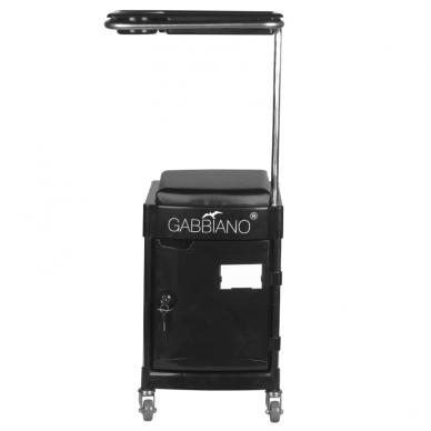 Pedikiūro vežimėlis - kėdutė HELPER PEDICURE STOOL BLACK 3