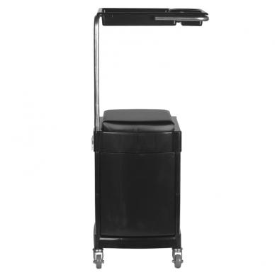 Pedikiūro vežimėlis - kėdutė HELPER PEDICURE STOOL BLACK 4