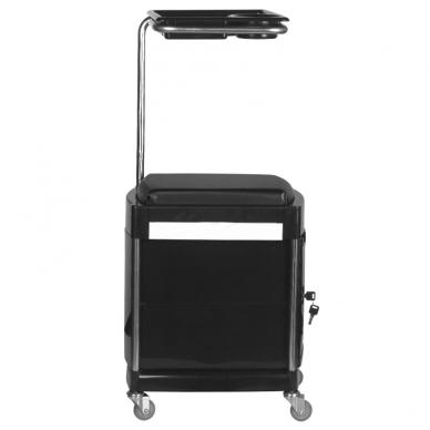 Pedikiūro vežimėlis - kėdutė HELPER PEDICURE STOOL BLACK 5
