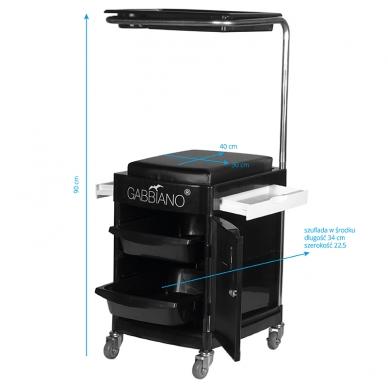 Pedikiūro vežimėlis - kėdutė HELPER PEDICURE STOOL BLACK 6