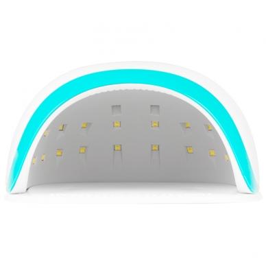 UV/LED nagų lempa 54W WHITE BLUE 2