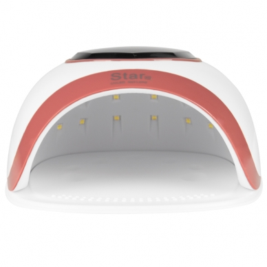 UV/LED nagų lempa 54W WHITE GOLD 4