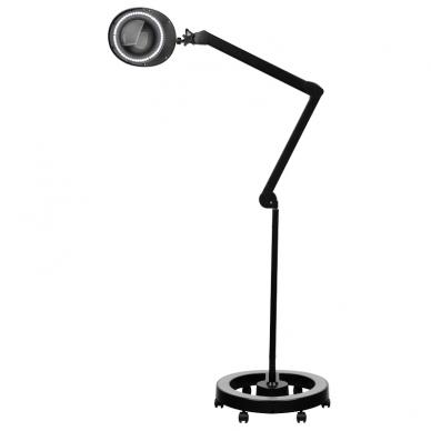 Kosmetologinė lempa LED su lupa 6W (pastatoma ant grindų, su ratukais) 2