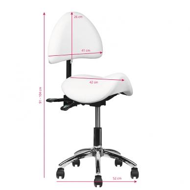 Meistara krēsls COSMETIC STOOL WHITE 3
