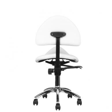 Meistro kėdutė COSMETIC STOOL WHITE 4