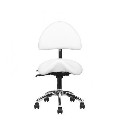 Meistara krēsls COSMETIC STOOL WHITE 5