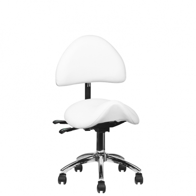 Meistara krēsls COSMETIC STOOL WHITE 6