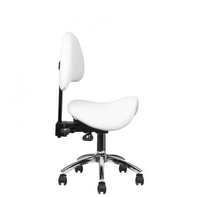 Meistara krēsls COSMETIC STOOL WHITE 7