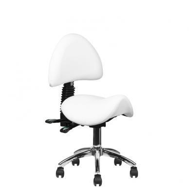 Meistara krēsls COSMETIC STOOL WHITE 8