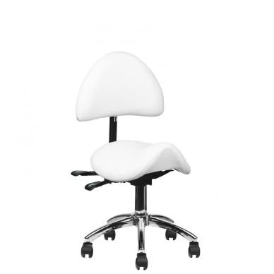 Meistara krēsls COSMETIC STOOL WHITE 11