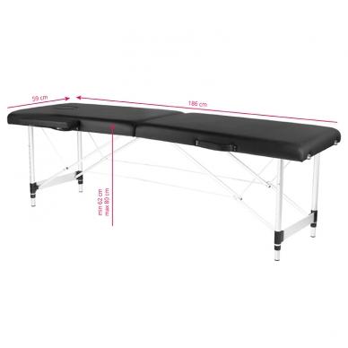 Saliekamais masāžas galds ALU COMFORT 2 BLACK 7