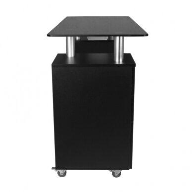 Manikiūro stalas GLASS COSMETIC DESK BLACK 3