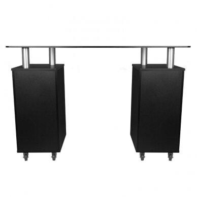 Manikiūro stalas GLASS COSMETIC DESK BLACK 4