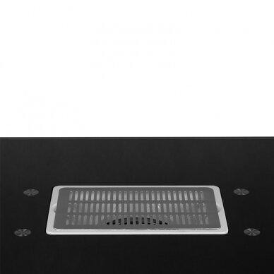 Manikiūro stalas su dulkių surinkėju GLASS COSMETIC DESK BLACK 2