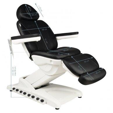 Kosmētikas krēsls AZZURRO EXCLUSIVE 4 MOTOR HEATED BLACK 5