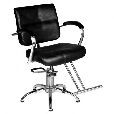 Frizieru krēsls HAIRDRESSING CHAIR 01 BLACK