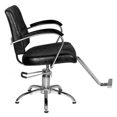 Frizieru krēsls HAIRDRESSING CHAIR 01 BLACK 4