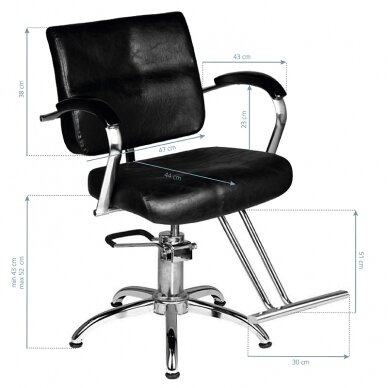 Frizieru krēsls HAIRDRESSING CHAIR 01 BLACK 5
