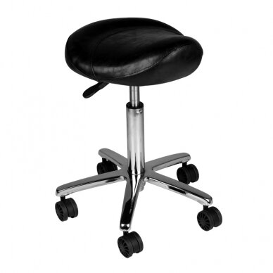 Meistara krēsls COSMETIC BEAUTY STOOL BLACK