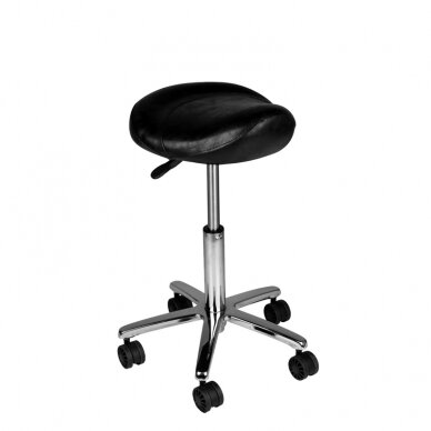 Meistara krēsls COSMETIC BEAUTY STOOL BLACK 2