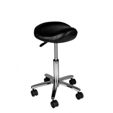 Meistara krēsls COSMETIC BEAUTY STOOL BLACK 2
