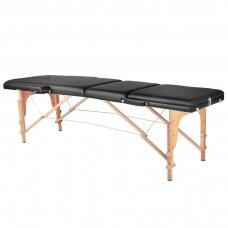 Saliekamais masāžas galds WOOD COMFORT 3 BLACK