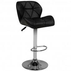 Bāra krēsls BELISSIMO ECO LEATHER CHROME BLACK