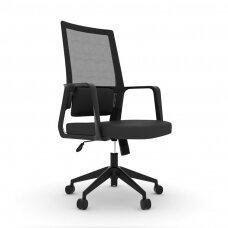 Biuro kėdė ant ratukų OFFICE CHAIR COMFORT BLACK