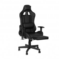 Mängutool GAMING CHAIR PREMIUM BLACK WITH FOOTREST
