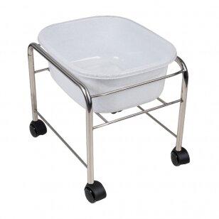 Pedikīra vannas ratiņi PEDICURE TRAY CHROME