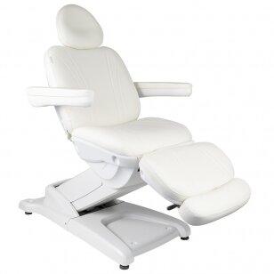 Kosmētikas krēsls AZZURRO ELECTRIC 2 MOTOR WHITE