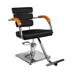 Kirpyklos kėdė GABBIANO HAIRDRESSING WOOD ELEGANCE BLACK