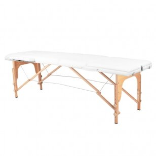 Saliekamais masāžas galds WOOD COMFORT 3 WHITE