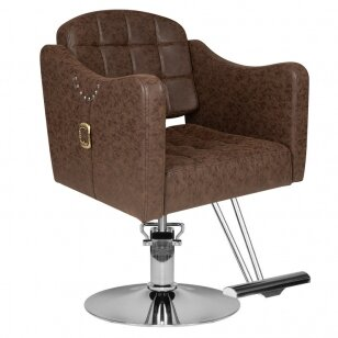 Kirpyklos kėdė HAIRDRESSING CHAIR MODEL C BROWN
