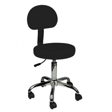 Meistara krēsls STOOL ROUND COMFORT BACK BLACK
