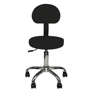 Meistara krēsls STOOL ROUND COMFORT BACK BLACK 2